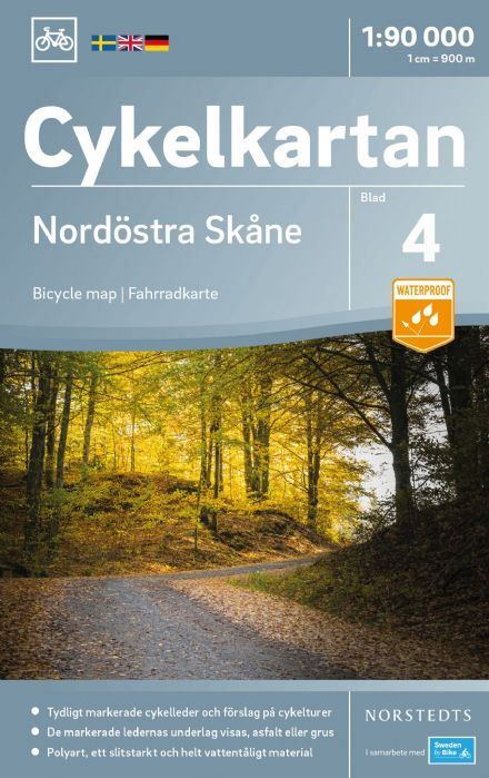 Sweden Cycling Map 04 - Skane North East